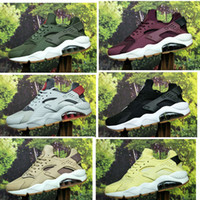 costumbre real al por mayor-2019 Nuevo Color Huarache ID Custom Running Shoes For Men azul marino tan Air Huaraches Sneakers Diseñador Huraches Marca Hurache Entrenadores