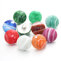 Wholesale mixed resin food - Random 10pcs lot mixing 18mm snap button jewelry colorful Resin snap button pression bijoux watches women charm bracelet 050604