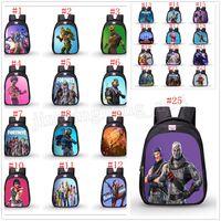 Wholesale cloth wholesalers - Fortnite cartoon student School Bag Oxford cloth Backpacks Game Fortnite Print Shoulders bag 25 Colors MMA201