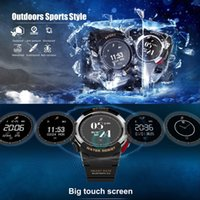 ingrosso gps esterno android ip67-No.1 F6 Smart Watch GPS Bluetooth 4.0 IP67 Outdoor Activity Tracker Fitness Cardiofrequenzimetro per IOS Android Phone Strap gratuito
