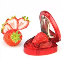 accessoires décoratifs de cuisine achat en gros de-Fraise Trancheuse Fruits Légumes Outils Sculpture Gâteau Décoratif Cutter Cuisine Gadgets Accessoires Fruit Sculptant Couteau Cutter KKA4839