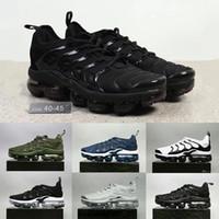 Wholesale Cargo For Mens - 2018 Vapormax TN Plus Shoes Black white Cargo Khaki Men Shoes For Running Male Shoe Pack Triple Black Mens Shoes 40-45