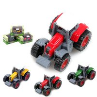 Wholesale children toy car truck resale online - Farmers Car Model Alloy Delicate Truck Rural Series Children Toy Cars Puzzle Kid Creative db V