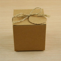 Wholesale box case aa online - New Creative Folding Kraft Paper Retro Dessert Case Gift Boxes European Style Wedding Candy Box Party Favor Supplies Hot Sale zj aa