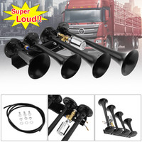 Wholesale 12V V dB Super Loud Four Trumpet Air Horn for Car Vehicle Truck Train Boat HOR_008