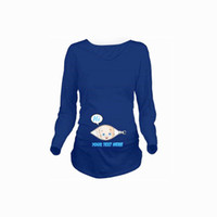 23d90105d47c1 Godier Women Autumn Pregnant T-shirt Costume Funny Pregnancy Cotton T-Shirts  Casual Long Sleeve Maternity Clothes Tees Tops