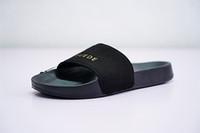ingrosso stile rihanna nuovo-2018 New Style Rihanna Fenty Pantofole in pelle scamosciata per le donne di estate Pantofole classiche Slipper Bule Slide Sandali Fenty Slides Beach 36578