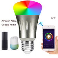 Wholesale Home Works - smart bulb wifi led light bulbs RGB remote controlled by APP work with Alexa Google home changeable colors
