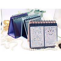 Wholesale calendar stickers - New Desk Calendar Nail Sticker Collecting Albums Showing Tool 68pcs Water Decals Storage Nail Art Holder Display