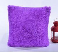travesseiro de ruffle branco venda por atacado-Atacado-12 cores de pelúcia fronha almofada casa fronha capa Retro simples Throw Supplies 43x43cm Hot