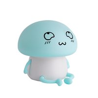 Wholesale wholesale children lighting for sale - 3D Night Colorful Mushroom Silicone Battery LED Night Light Touch Sensor Light Modes Children Cute Night Lamp Bedroom Light
