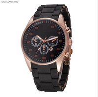 Wholesale Top Dress Sale - Hot Sale Fashion Mens Luxury Watches Casual Rubber Steel Top Brand Quartz Automatic Dress Wristwatch Clock Relojes