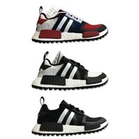 Wholesale hot human body - NMD Hot Basf Runner Boost Men Race Sneakers White Mountaineering Human Species Fashion Designer Sports Running Shoes Size 40-45