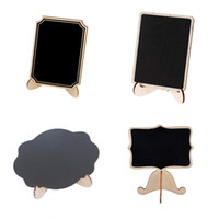 Wholesale wedding table numbers for sale - 9 cm Designs Mini Wooden Chalkboard Placed Names Table Numbers Food Signs Festive Party Supplies for Wedding Party