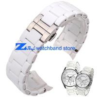 Bracelet en caoutchouc en acier inoxydable en gel de silice blanc pour  AR5859 mâle 23mm AR5867 bracelet en silicone de la montre 20mm bracelet en  silicone e98d9c471d0