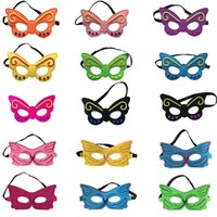 Wholesale christmas cartoon mascot resale online - Butterfly Mask Eye Shade Halloween Bee Mask Children Cosplay Eye Masks Party Masquerade Performance Halloween Cosplay Mascot Costumes