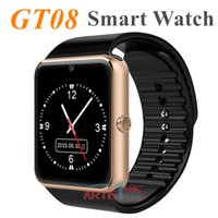 Wholesale Turkish Silver Bracelets Wholesale - GT08 Bluetooth Smart Watch with SIM and TF Card Slot Health Watchs for Android Samsung and IOS Apple iphone Smartphone Bracelet Smartwatch