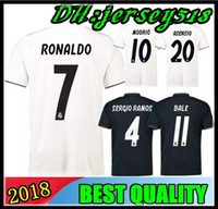 Wholesale ramos shirts - 2019 Real Madrid soccer jersey Asensio SERGIO MODRIC RAMOS MARCELO BALE ISCO Camiseta KROOS 18 19 real madrid football shirts
