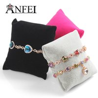 Wholesale display stands for watches - ANFEI 30PCS Wholesale Bracelet Display Watch Display Jewelry Display Shelf Sponge Pillow Stand For Jewelry Rack