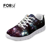 Wholesale 3d Printed Fabric - FORUDESIGNS Zapatos Men 3D Galaxy Space Star Printed Men's Casual Shoes Flats Lace-up Autumn Leisure Shoes for Man Male Boys