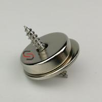 neodym-magneten loch 5mm großhandel-20PK 22LB Senkloch Neodym Magnet Latch Kit Disc D20mm * 5mm mit Schlagblech und Schrauben Kabinett Möbel Türbefestigung