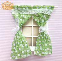 ingrosso bambole rosa-DIY Dollhouse Mini Decoration Lovely Lattice Pink Curtain per la casa di bambole in scala 1/12