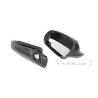 замена заднего зеркала оптовых-B8.5 PU защищают крышки зеркала углерода 1:1 Замена OEM Fitment боковое зеркало Крышка для Audi A3 новый A4 A5 S5 2010-2016