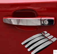 Wholesale stainless steel trunks for sale - Group buy High quality Stainless steel car door handle cover sticker ABS rear trunk door handle bowl for Chevrolet Trax
