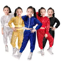 Wholesale dance clothing hop online - Children S Dance Costume New Style Sequined Jazz Wear Hip Hop Dance Stage Performance Clothing cm