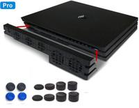 siyah plastik kalem toptan satış-PS4 Pro Soğutma Fanı 5 soğutucu Isı Exhauster Playstation 4 Pro Konsol Aksesuarları Için soğutucu Sıcaklık Kontrolü Kontrol ventilatore