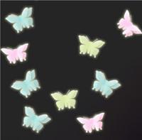 ingrosso adesivi a parete di plastica della farfalla-Farfalle Glow in the Dark Fluorescent Plastic Home Decorate Wall Sticker decorazioni per camerette
