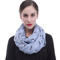 Wholesale dog infinity scarf for sale - Cute Beagle Dog Pet Animal Print  Women Infinity Loop f77a9ec6e408