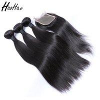 ingrosso capelli umani brasiliani singoli-Fasci di capelli peruviani del tessuto dei capelli diritti umani con i pacchi brasiliani non trattati dei capelli del singolo donatore della chiusura che spediscono durante la notte