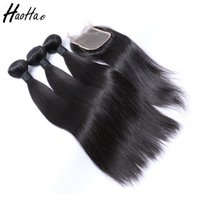 Wholesale brazilian human hair single resale online - Straight Human Hair Weave Peruvian Hair Bundles With Closure Unprocessed Single Donor Brazilian Hair Bundles Shipping Overnight
