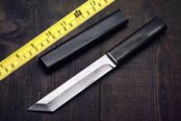 espadas de aço japonês venda por atacado-Lâmina principal de alta qualidade VG10 faca de aço Damasco espada estilo japonês com bainha de madeira preta Cold Steel faca 1 pc