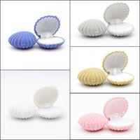 Lovely Shell Shape Velvet Wedding Engagement Ring Box For Earrings Necklace Bracelet Jewelry Display Gift Box Holder