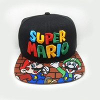 Wholesale Super Man Costume Party - Super Mario Hat Harry Potter hats Skull Caps Hufflepuff Ravenclaw Cosplay Costume hats Snapback Anime lovers Cap Men Women free ship 88