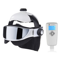 Wholesale health points - Relax Acupuncture Points Electric 2 In 1 Head Eye Massager Health Care Adjustable Size Relaxation Massage Helmet Brain Massage