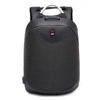 mochilas casuales masculinas al por mayor-2018 nueva moda 15.6 pulgadas mochila Portátil hombres Mochila Impermeable Ocasional de Viaje de Negocios USB Back pack Male Bag antirrobo regalo