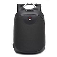 iş adamı için sırt çantası toptan satış-2018 yeni moda 15.6 inç Laptop sırt çantası erkekler Su Geçirmez Sırt Çantası Rahat Seyahat Iş USB Geri paketi Erkek Çantası Anti-hırsızlık Hediye
