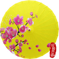 Wholesale bamboo fabric china - Classical Oiled Paper Umbrella Bamboo Handmade Ancient China Style Decorated Japanese Umbrella Women Dance Props