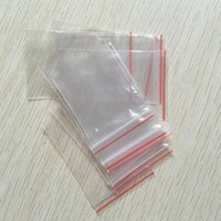 ingrosso borse ziplock richiudibili-1000pcs / lot (4x6cm 5x7cm 6x8cm 7x10cm) Spessore 0.05mm Gioielli Ziplock Zip serratura con cerniera Reclosable plastica poli sacchetti trasparenti