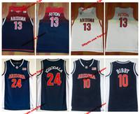 jersey de iguodala al por mayor-Hombres Wildcats de Arizona 13 DeAndre Ayton College Baloncesto Jersey 10 Mike Bibby 24 Andre Iguodala University Stitched Jerseys