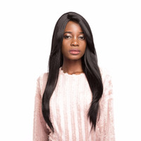 Wholesale natural hair toupees resale online - Synthetic Wigs Wig with Bangs For Black Women Little Handmade Front Lace on Toupee Middle Part inch New Hairstyles For Long Straight Hair