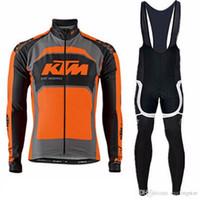 largo ciclismo tour francia al por mayor-Equipo profesional Ktm hombres ropa de ciclismo Manga larga Camisetas de ciclismo Ropa de bicicleta de secado rápido tour de france mtb bicicleta maillot Ropa Ciclismo B2001