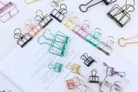 dossiers de portefeuille en plastique achat en gros de-Pinces pour reliure en fil métallique Pince à papier pour papier - taille 3, accessoires de bureau de fournisseur de bureau