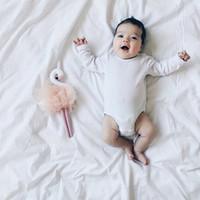 ingrosso divertenti animali farciti-Handmade Swan Plush Doll Baby Room Decorating Soothing Toys Popolare Carino personalizzato PP farcito di cotone Animali Ragazzi Ragazze Regali divertenti