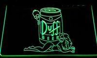 Wholesale led neon sign display - LS168-b Duff Simpsons Beer Bar Display Neon Light Sign Decor Free Shipping Dropshipping Wholesale 8 colors to choose