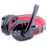 беспроводные наушники для ноутбука оптовых-Мода беспроводная стерео игровая гарнитура Bluetooth наушники над ухом наушники с микрофоном для ПК ноутбук смартфон Игры Музыка Бесплатная доставка