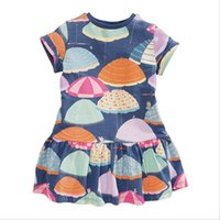 Wholesale Summer Dresses For Toddlers - Richu children clothing summer short sleeve dresses for girls cotton flower 18M-6Years toddler clothes high quality kids dress wholesale